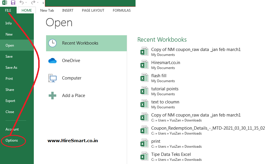 How to activate the Developer tab in Microsoft Excel