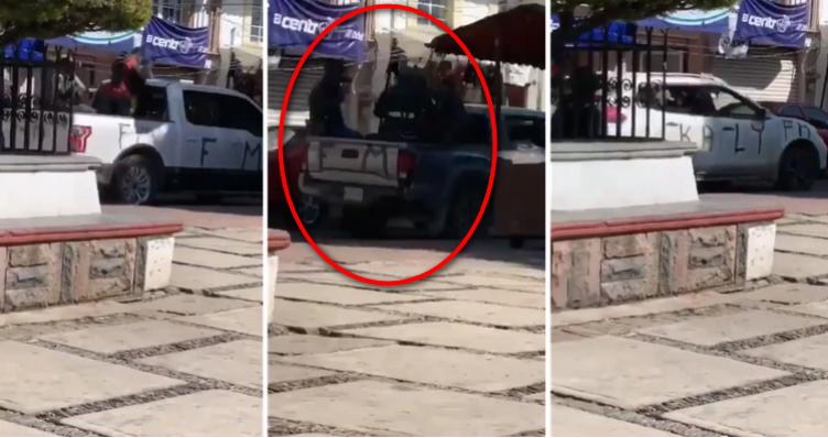 """Como Juan por su casa, captan convoy de LNFM ingresando al EdoMex para disputarle la plaza a """"El Mencho"""" y al CJNG"""