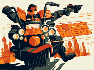 Judge Dredd Regular Edition Screen Print by Tom Whalen & Vice Press