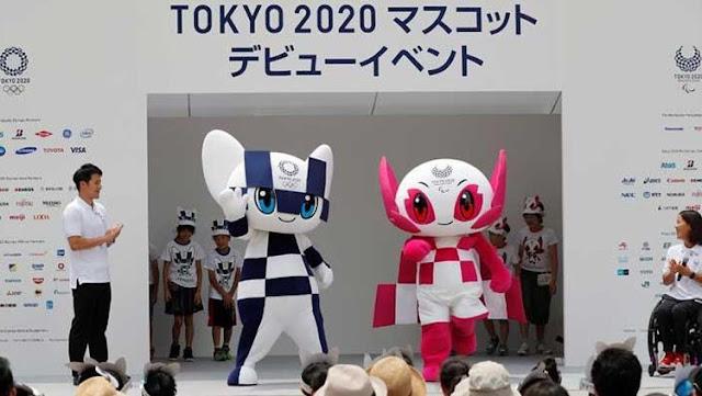 Miraitowa dan Someity, Maskot Olimpiade dan Paralimpik Tokyo 2020 di Tokyo Jepang (22/07/18)