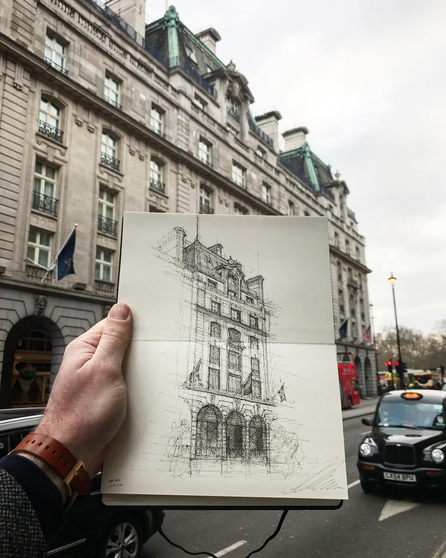 13-The-Ritz-London-Luke-Adam-Hawker-Architectural-Illustration-of-Imposing-Buildings-www-designstack-co