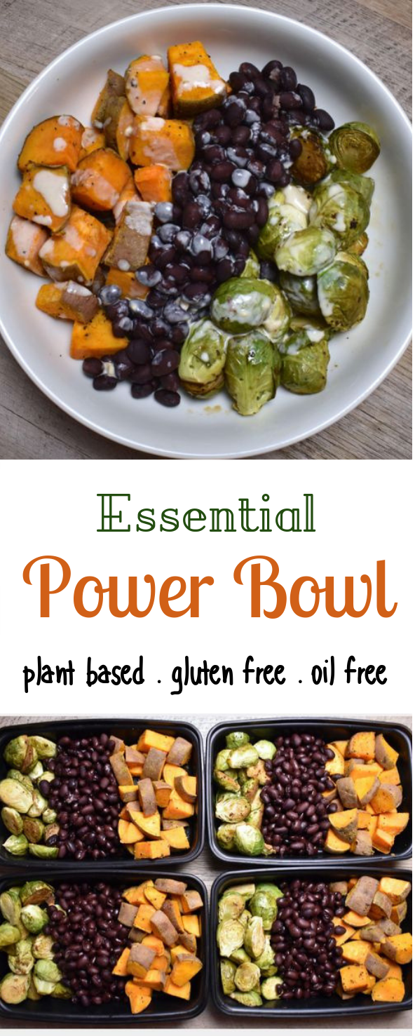 Essentials Power Bowl w/ Tahini Lime Drizzle#vegetarian #glutenfree