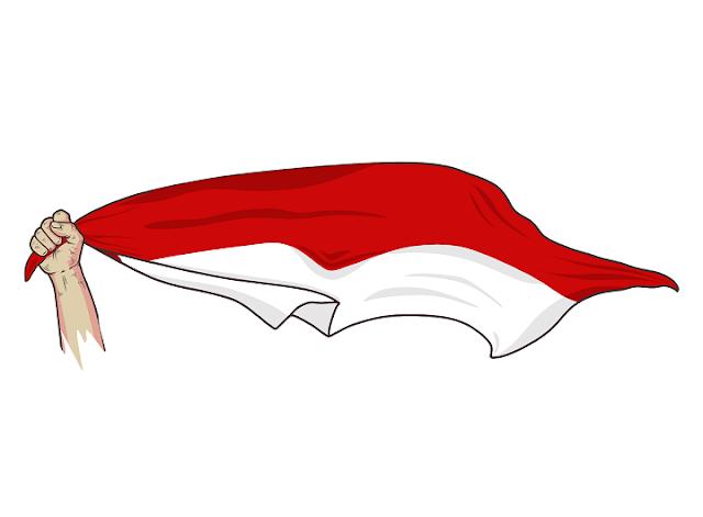 Gambar Bendera merah putih keren