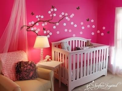 Desain Kamar Tidur Bayi Perempuan