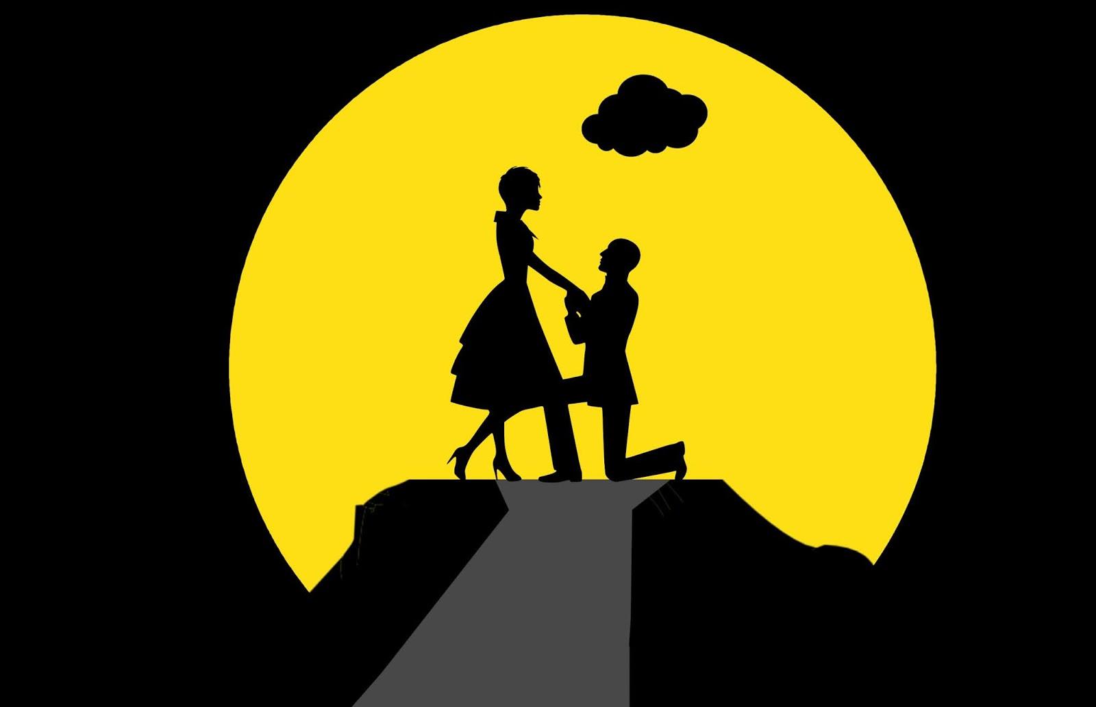 love Couple Silhouette design
