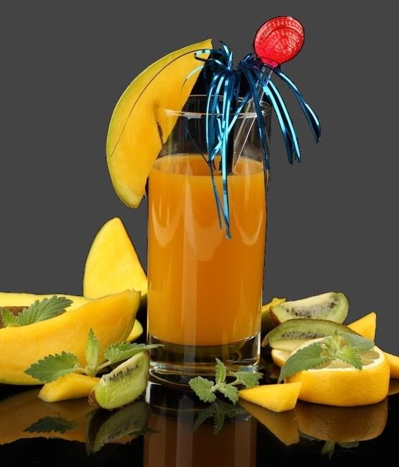 Smoothie z mango w dwóch wariantach
