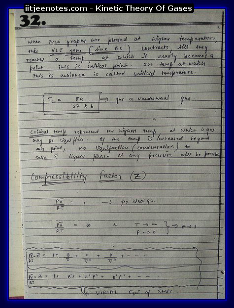 Kinetic Theory Of Gases Notes IITJEE2