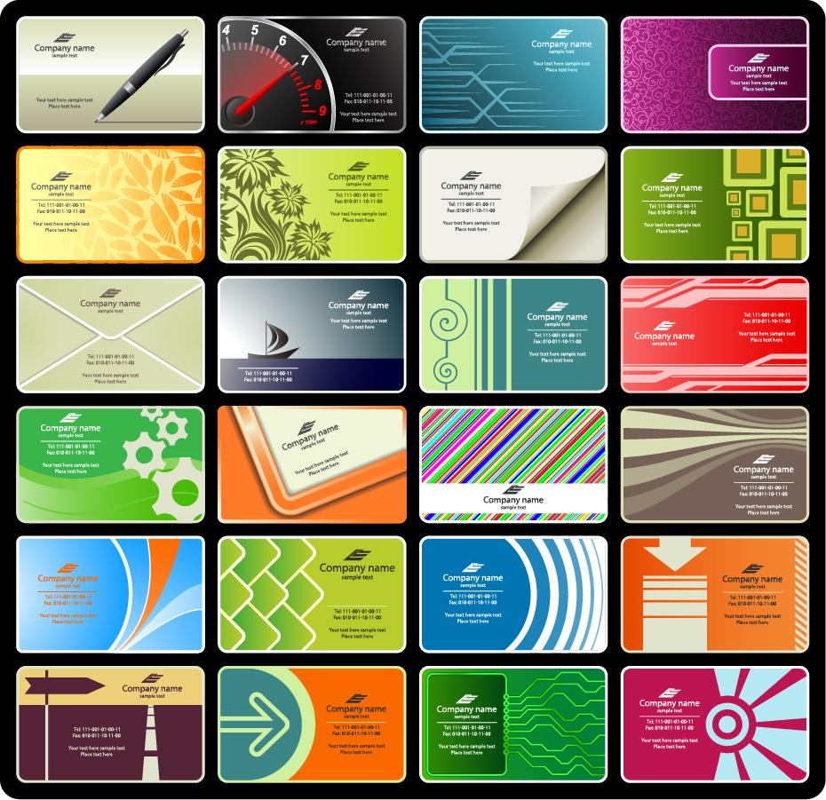 カレンダー カレンダー デザイン フリー : Free Vector Business Cards