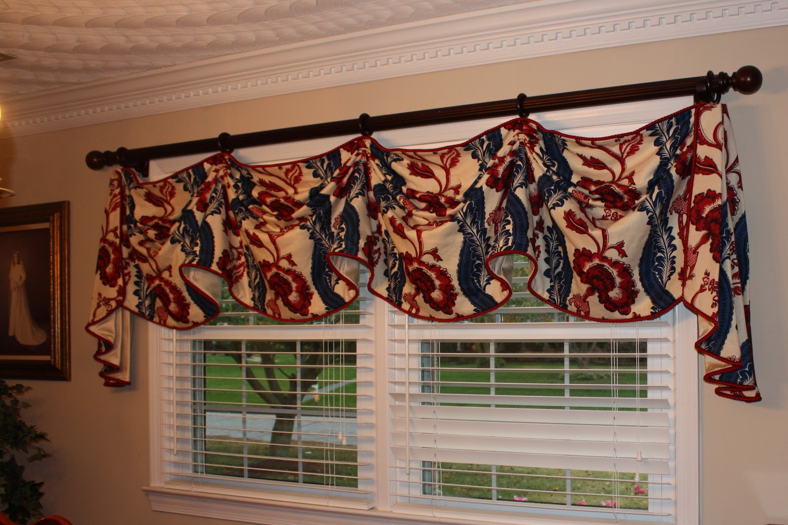 dining room valance | Create A View Designs: Doug & Diane's Dining & Sitting ...