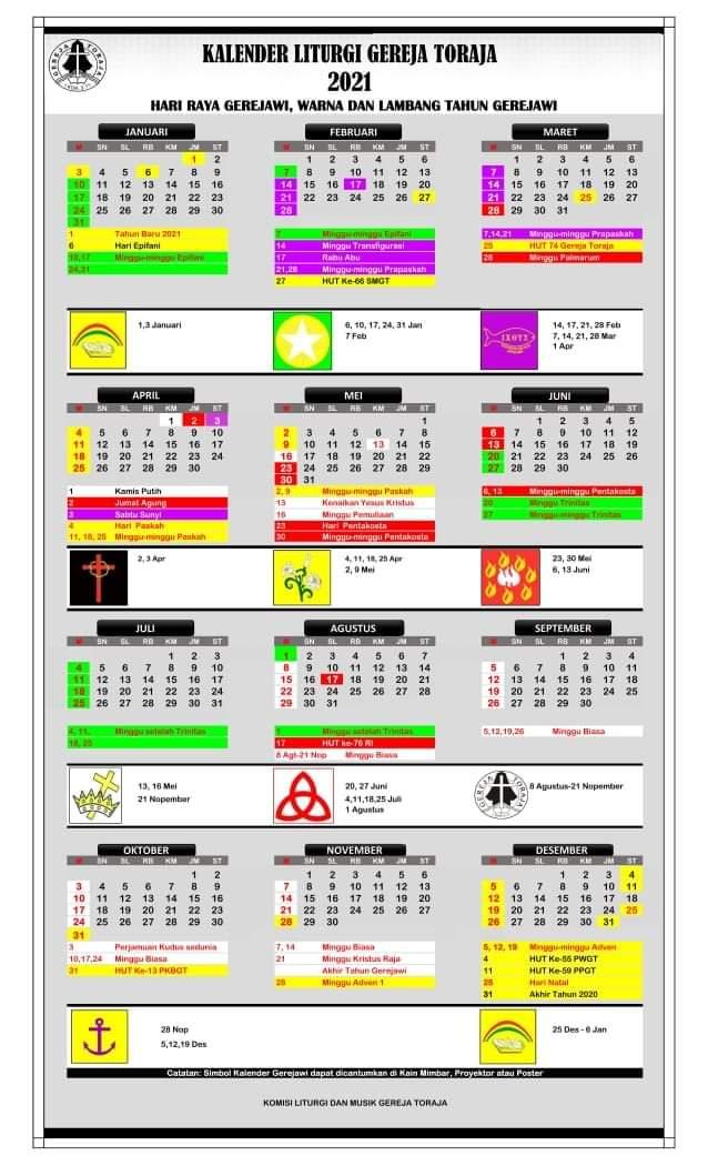 Kalender Liturgi Gereja Toraja 2021