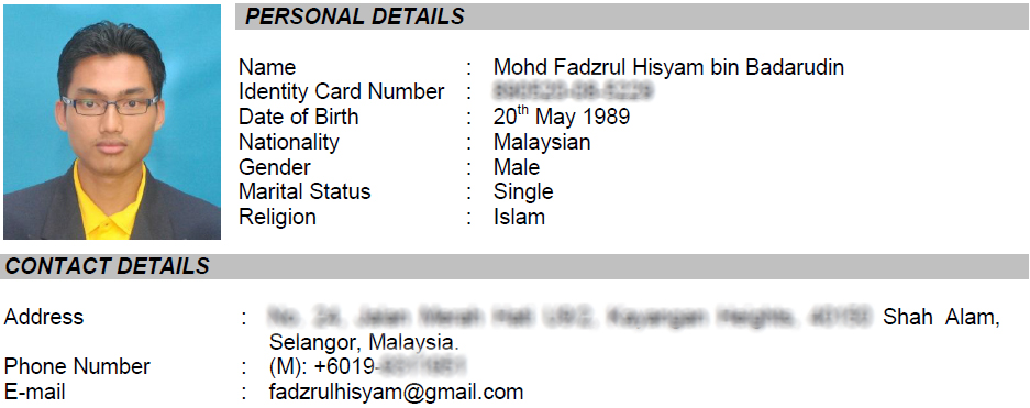 Resume Sample For Job Application Malaysia. Resume For Students