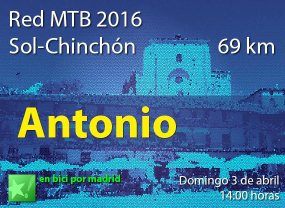 Dorsales para la Red MTB 2016 a Chinchón. Grupo Puerta del Sol