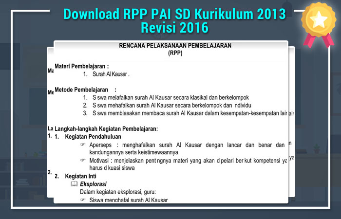 Download RPP PAI SD Kurikulum 2013 Revisi 2016