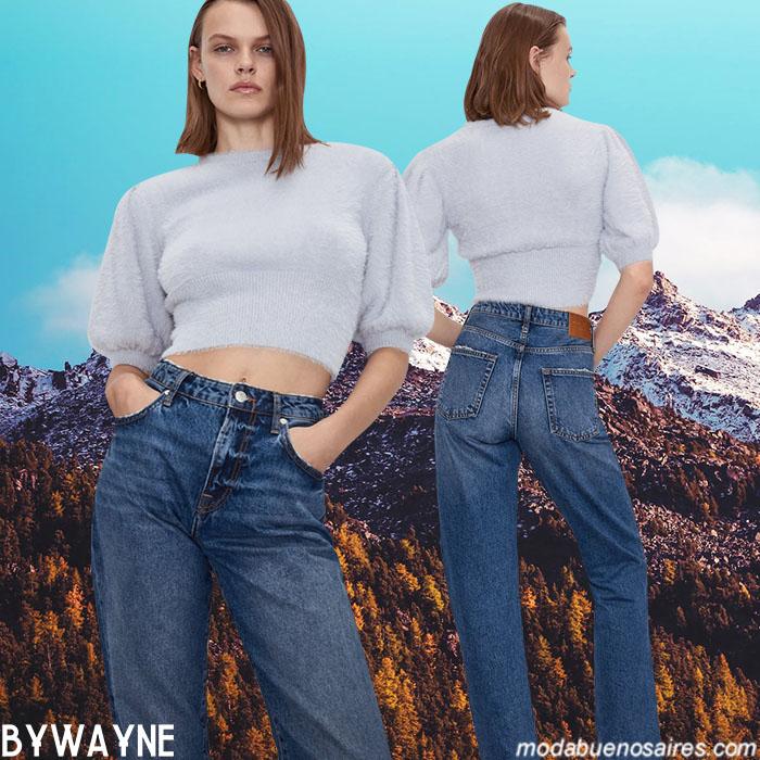 Moda jeans otoño invierno 2020 denim.