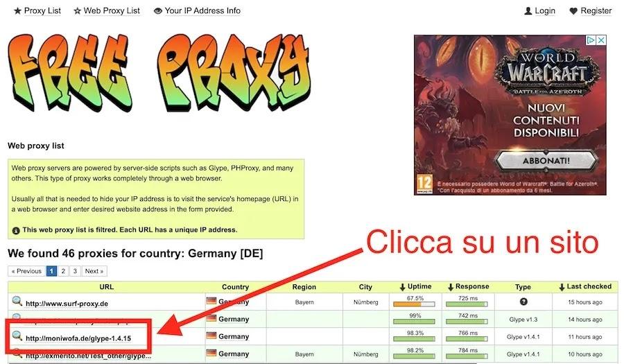 proxy web tedeschi per accedere al sito netflix.de dall'italia