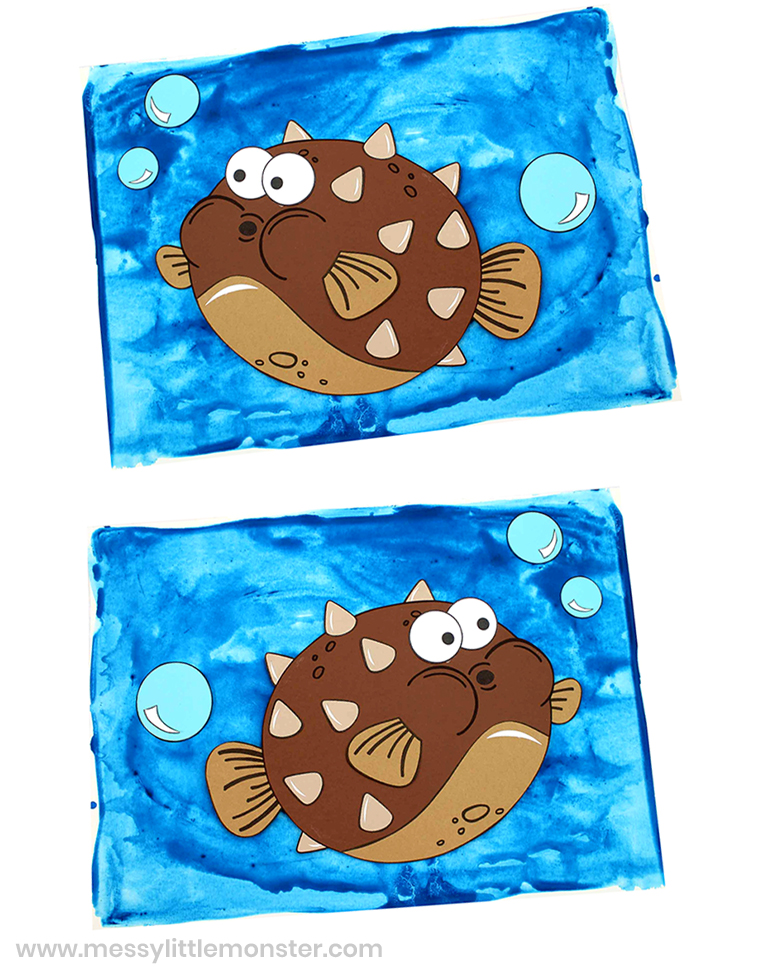 Blowfish craft. A fun fish paper craft with template.