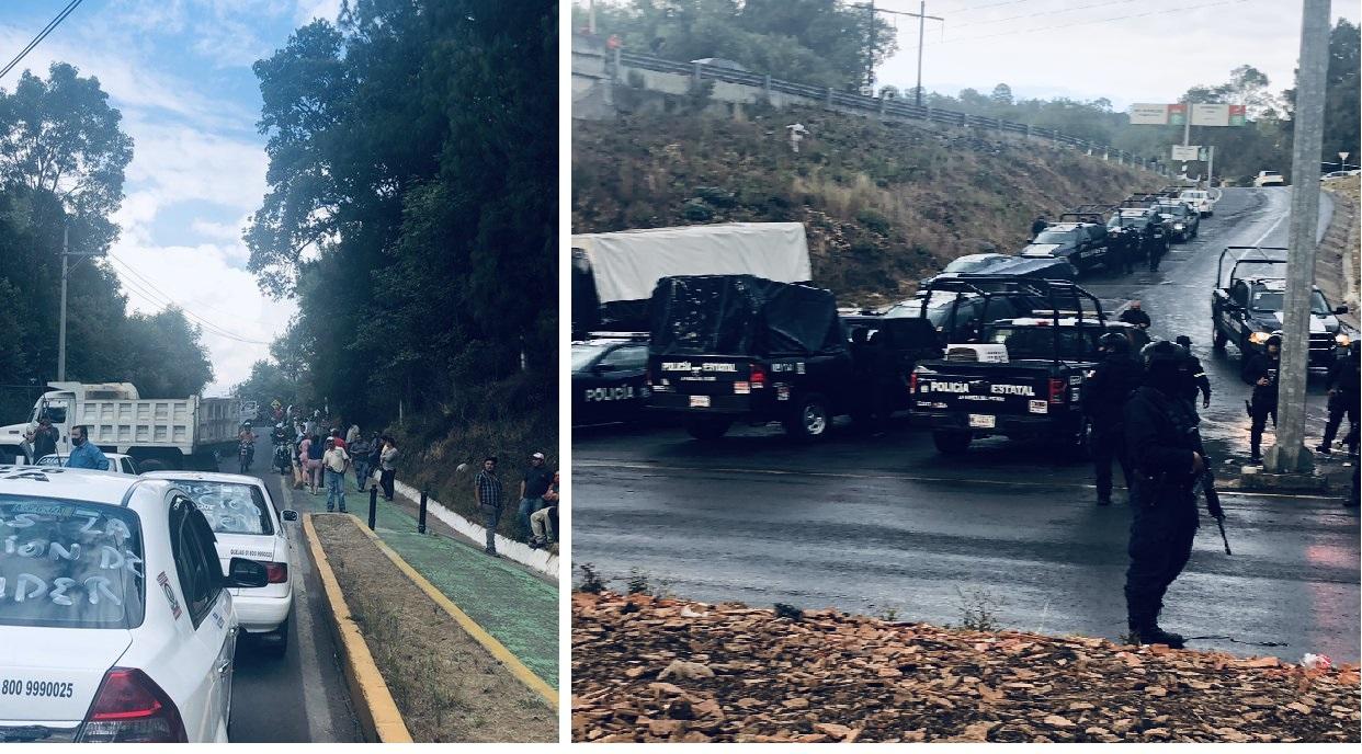 Megaconvoy de Taxistas Armados bloquea a policías estatales y matan a comandante; tras detención del líder de La Familia Michoacana