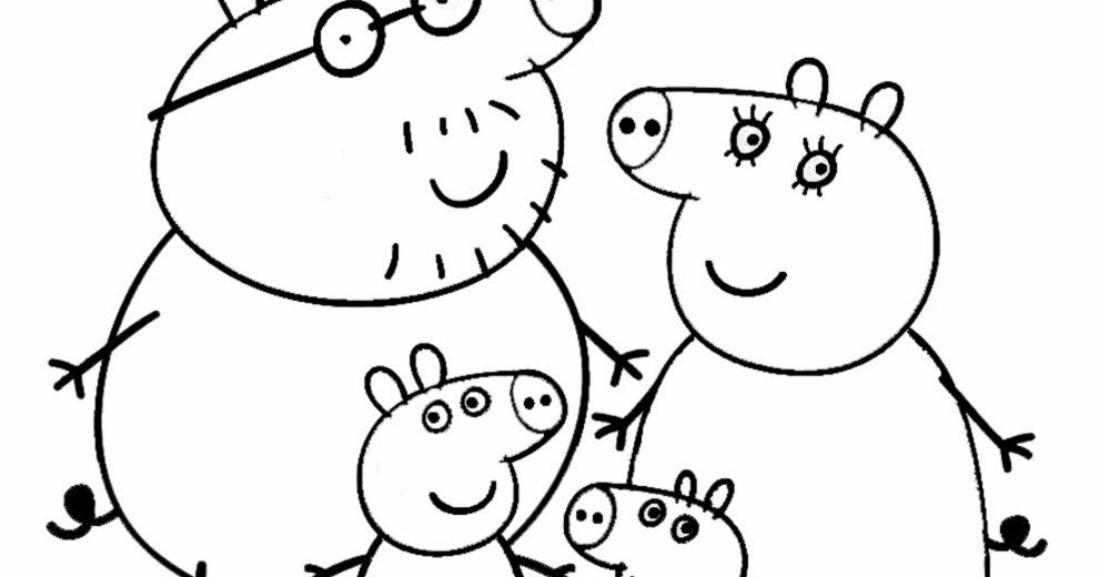 Stampa e colora famiglia peppa pig for Peppa pig disegni da colorare