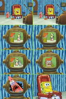 Polosan meme spongebob dan patrick 5 - patrick dan acara televisi