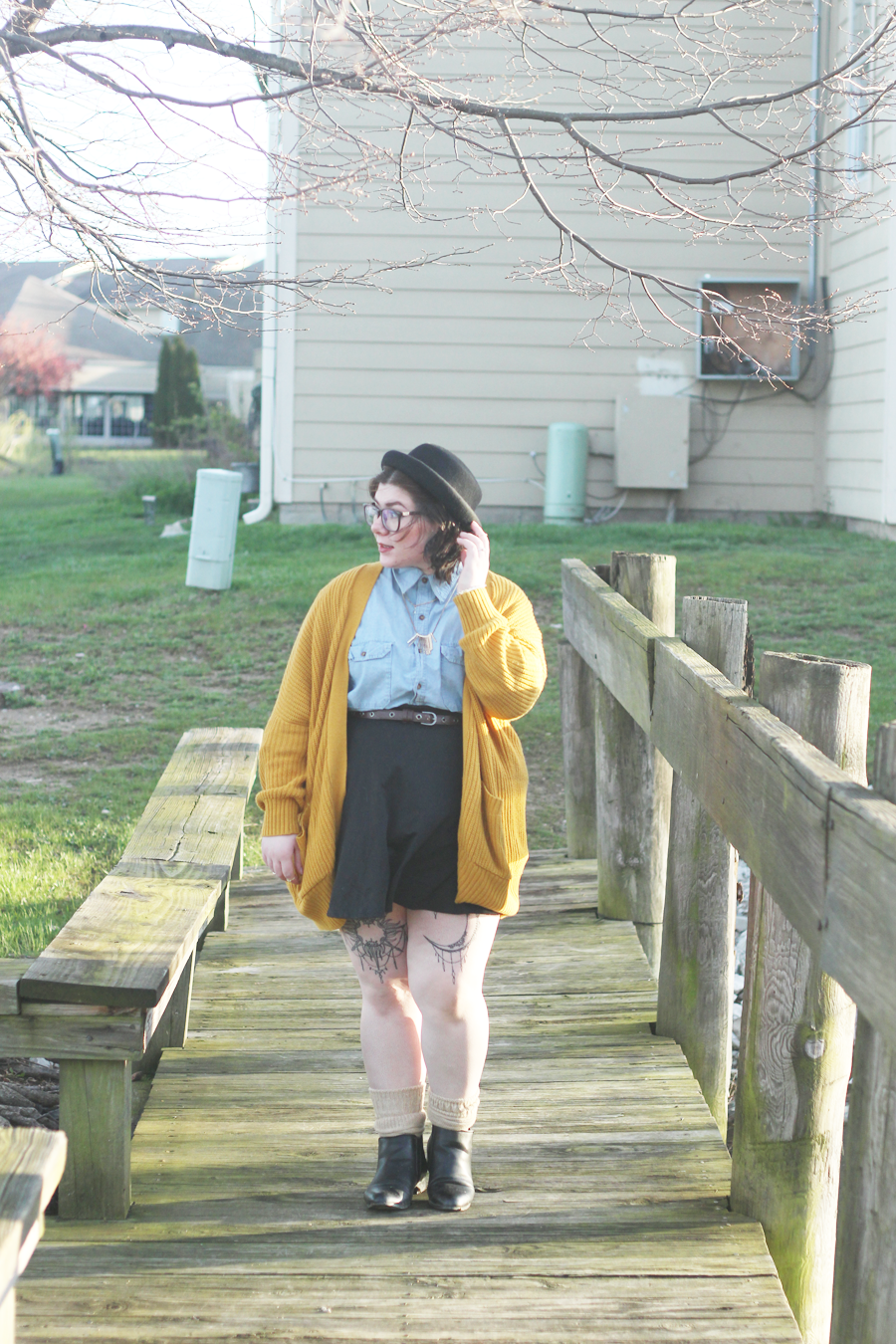 chambray, spring outfit, outfit