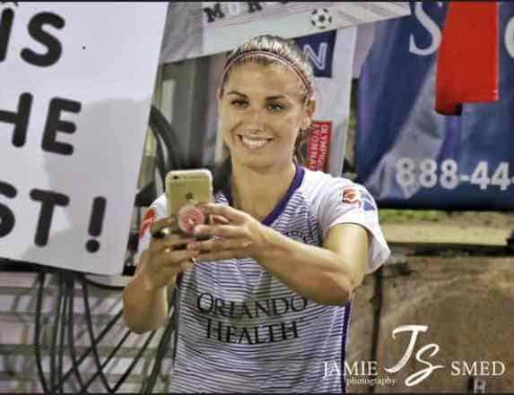 Alex Morgan smiling image