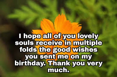 Thanks for Happy Birthday Wishes