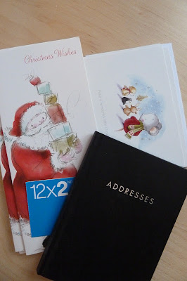 Christmas cards and stamps