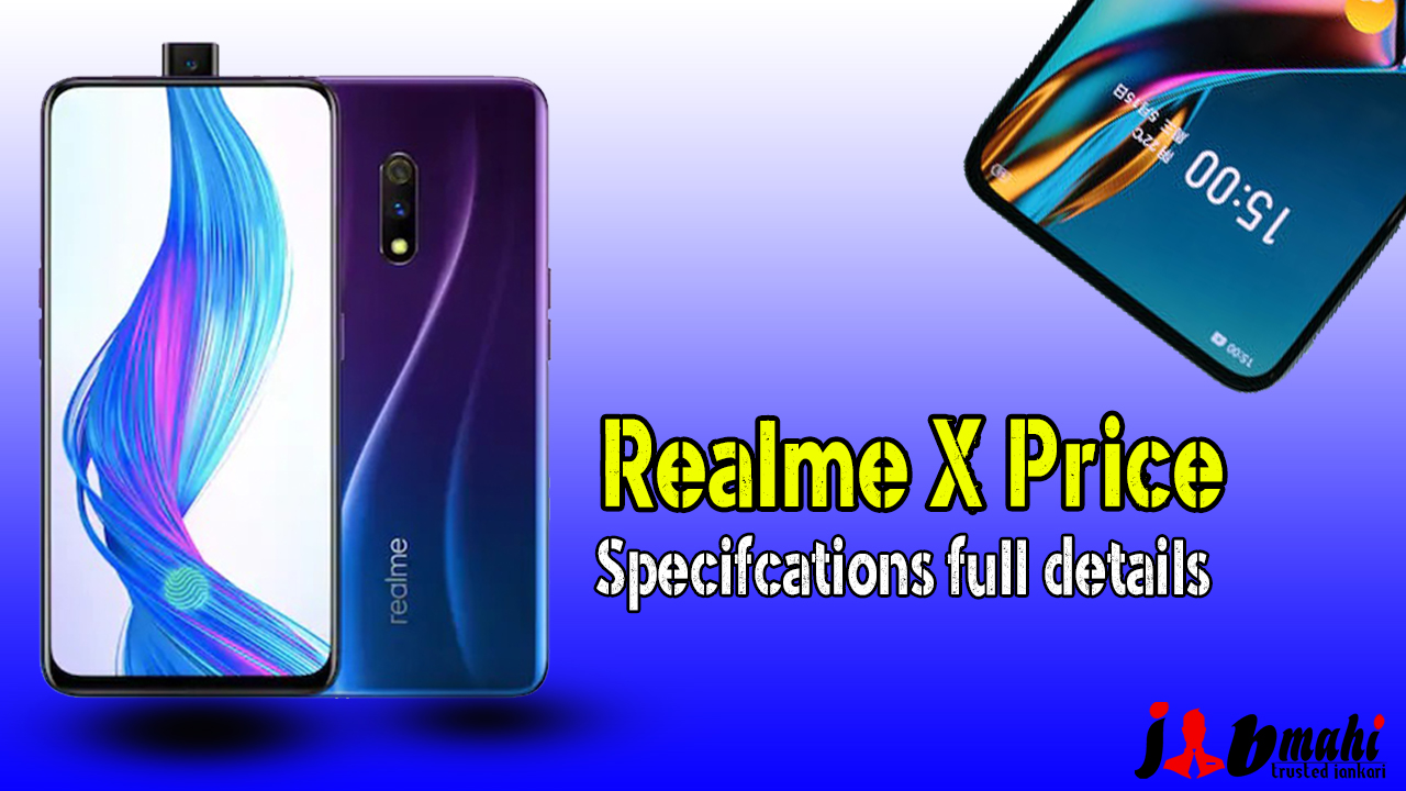 Realme X Launched Price in India: Specifications full Detailed-jobmahi