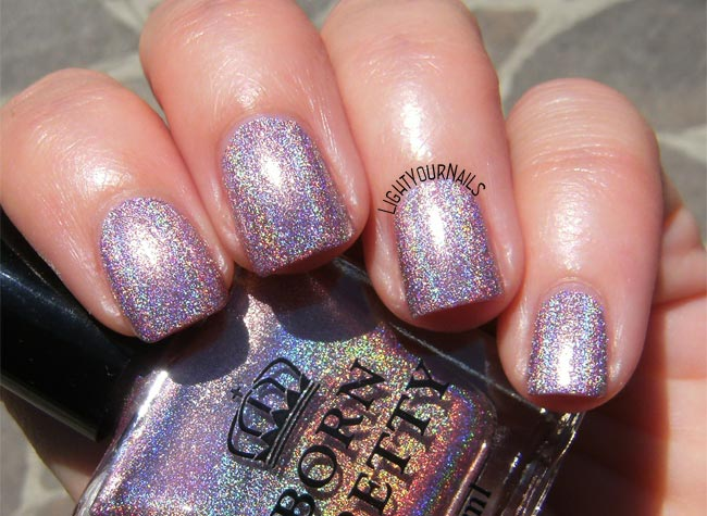 Bornpretty pink holo polish H004 Magnificent Time smalto olografico rosa