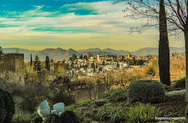 O bairro do Albaicín visto da Alhambra de Granada