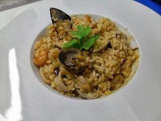 Receta de risotto alla marinara.