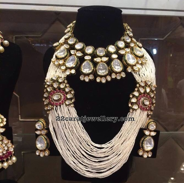 Kundan Set Heavy Pearls Haram