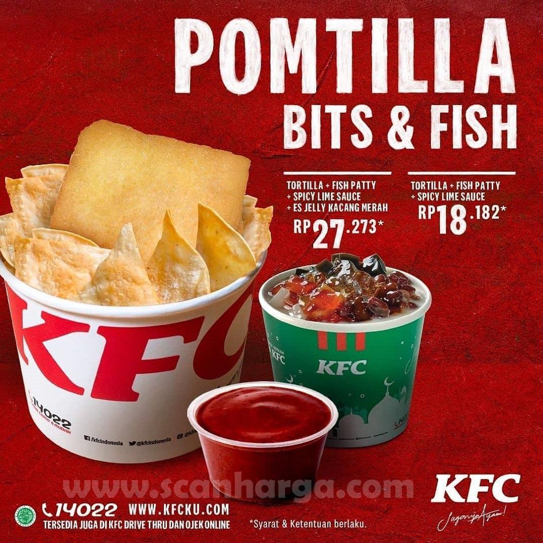 KFC Pomtilla Bits & Fish Menu Snack Baru Mulai Rp 18.182