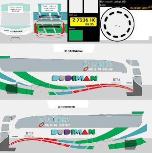 Livery Bussid Budiman