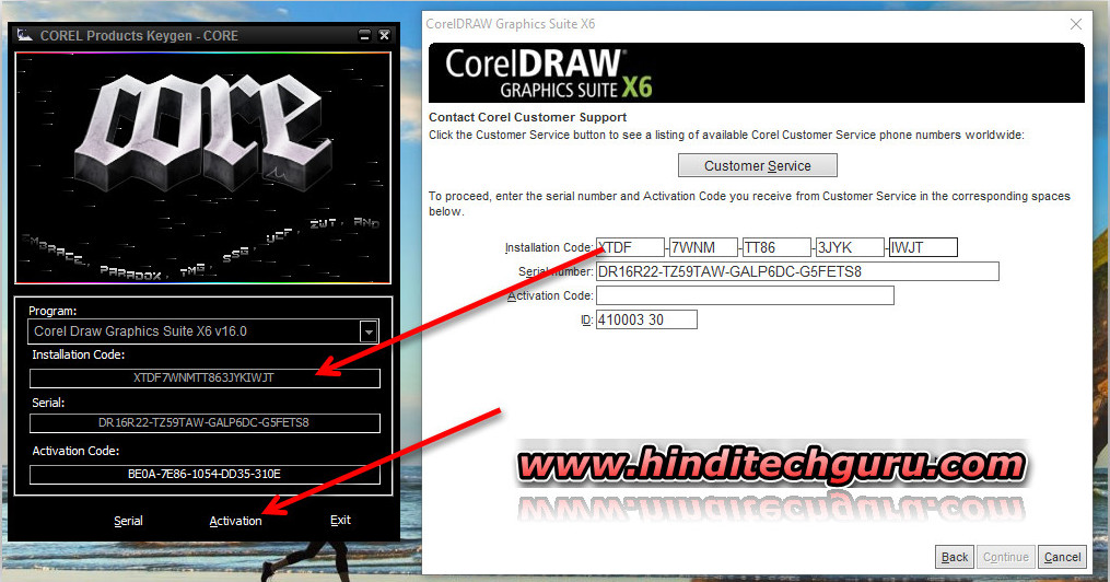 corel draw x6 keygen activation code full version
