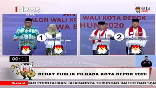 Debat Pilkada Depok, Idris Vs Pradi Saling Klaim soal Award Transportasi
