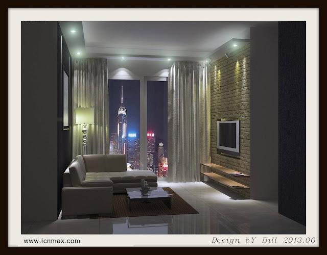 3dsMax客廳設計作品