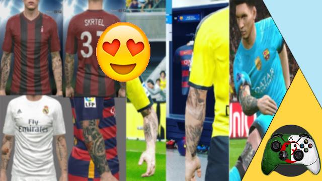 حلقة مميزة : احدث مود وشوم | Tattoos حصريا للعبة PES 2017 | وشوم خراافية