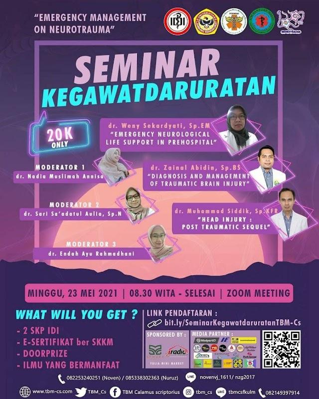 "(2 SKP IDI) Seminar Kegawatdaruratan ""Emergency Management of Neurotrauma"""
