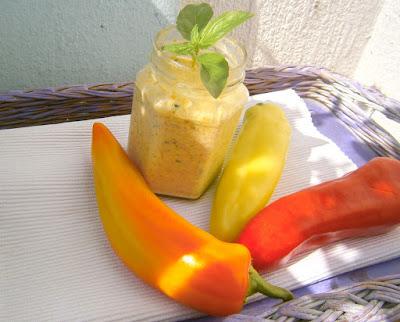 sült paprika krém