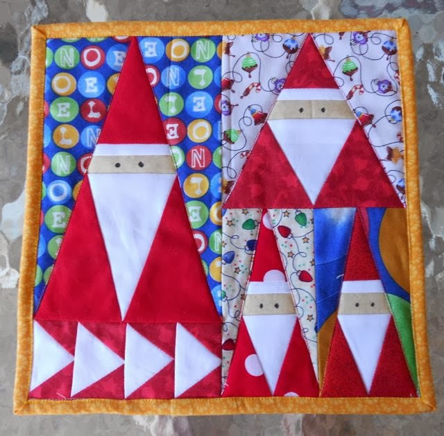 Paper Pieced Christmas Tree Pattern: Val Spiers Sews: Little Christmas Bits 7