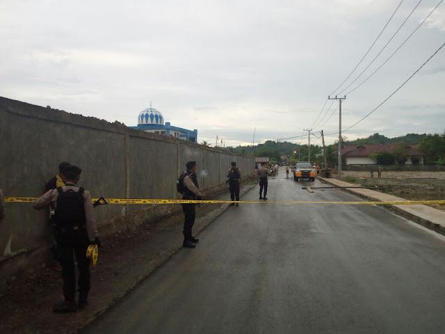 Polisi  Amankan Lokasi Penemuan Benda Yang Diduga Bom di Lhokseumawe