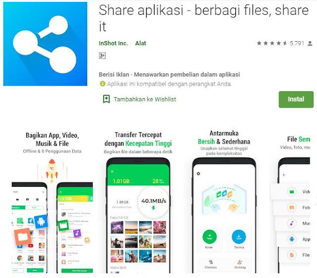 Share aplikasi