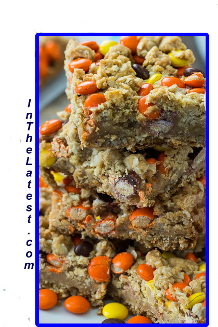 Reese's Pieces Peanut Butter Oatmeal Bars