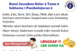 LENGKAP !!! Kunci Jawaban Kelas 2 Tema 8 Subtema 1 Pembelajaran 2