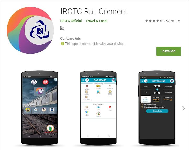 IRCTC Rail Connect - Official Application