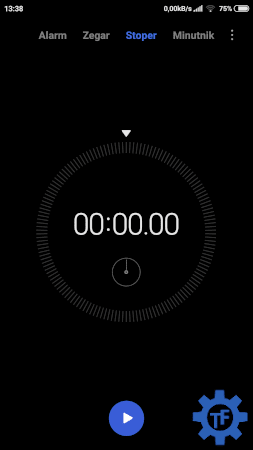Aplikacja zegar w telefonie Xiaomi
