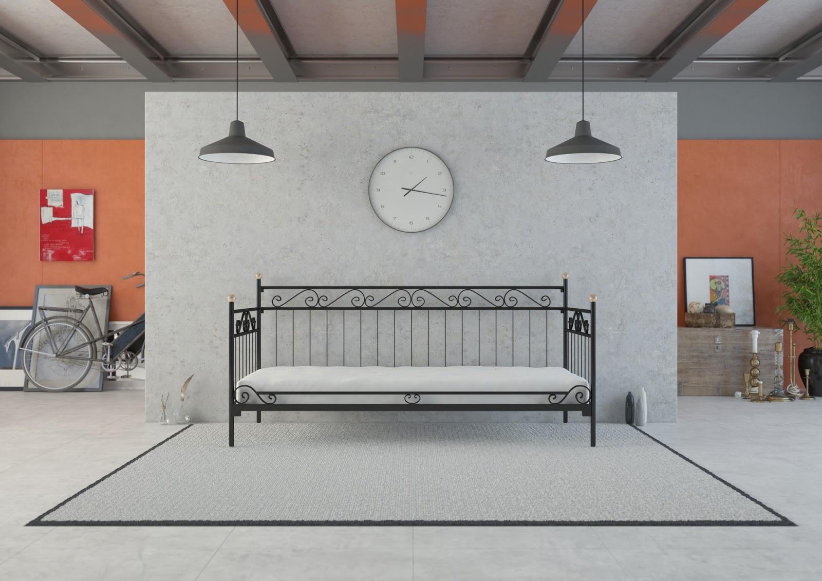 Łóżko metalowe sofa wzór 30