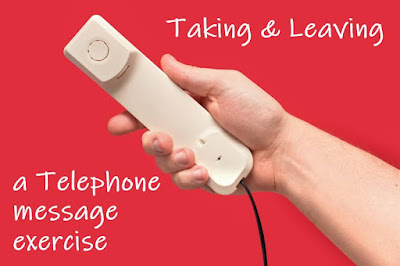 Soal Latihan Taking and Leaving a Telephone Message SOAL LATIHAN TAKING AND LEAVING A TELEPHONE MESSAGE