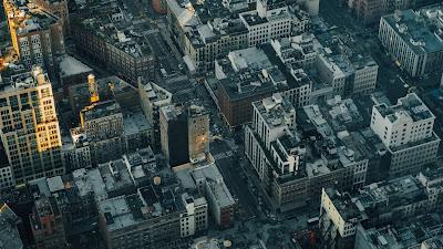 Plano de Fundo Cidade, Metrópole, Vista Aérea, Rua